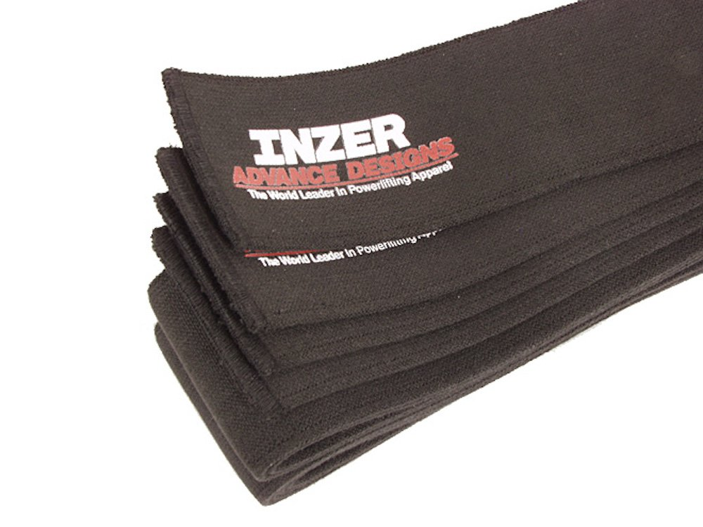 Inzer Black Beauty Knee Wraps - Powerlifting Weightlifting Wraps (Pair) (2.0m)