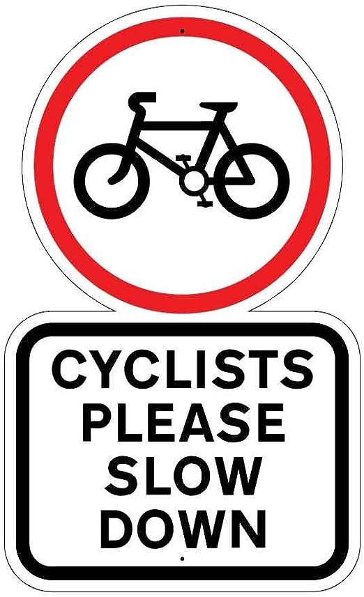 JAF Graphics Señal de Seguridad para Bicicleta con Texto en Inglés ...