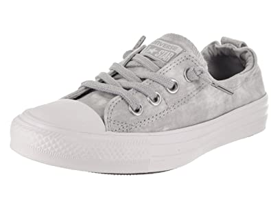 685ceed1e64f Converse Women s Chuck Taylor All Star Shoreline Slip-On Wolf Grey White  White