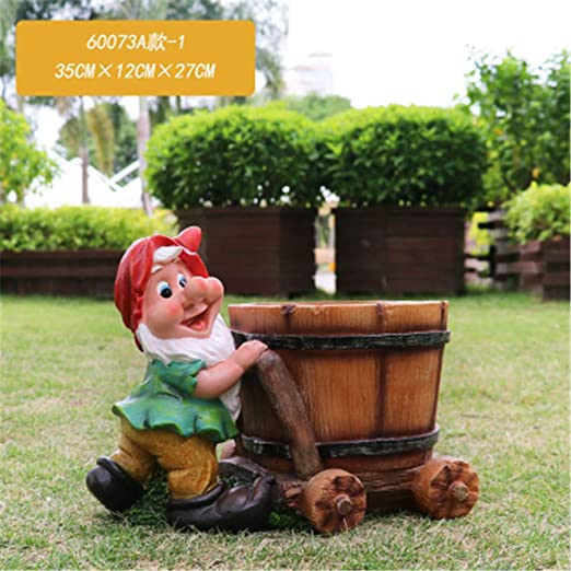 Personalidad Exterior enana Resina Maceta decoración hogar jardín ...