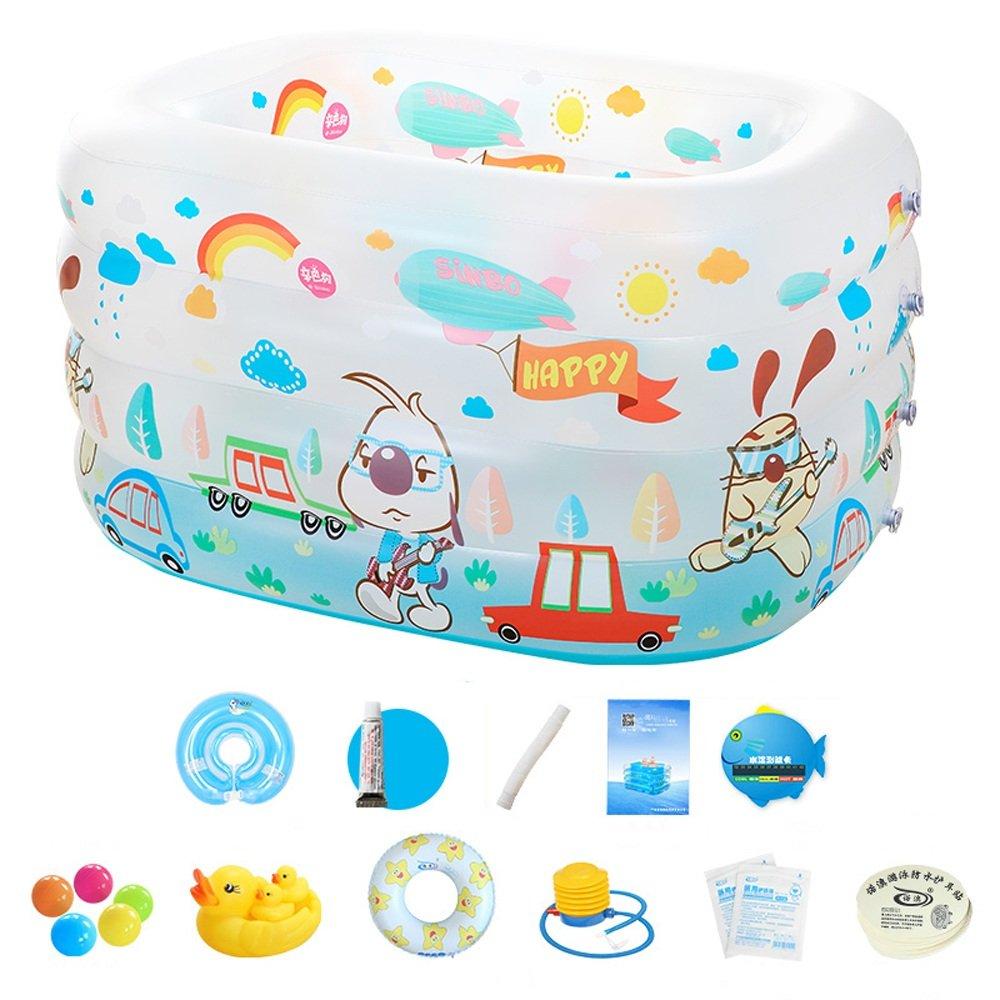 Neilyn Piscina inflable familiar grande Piscina plegable para niños Infantes Piscina para niños Piscina para juegos para bebés Bañera portátil para adultos ...