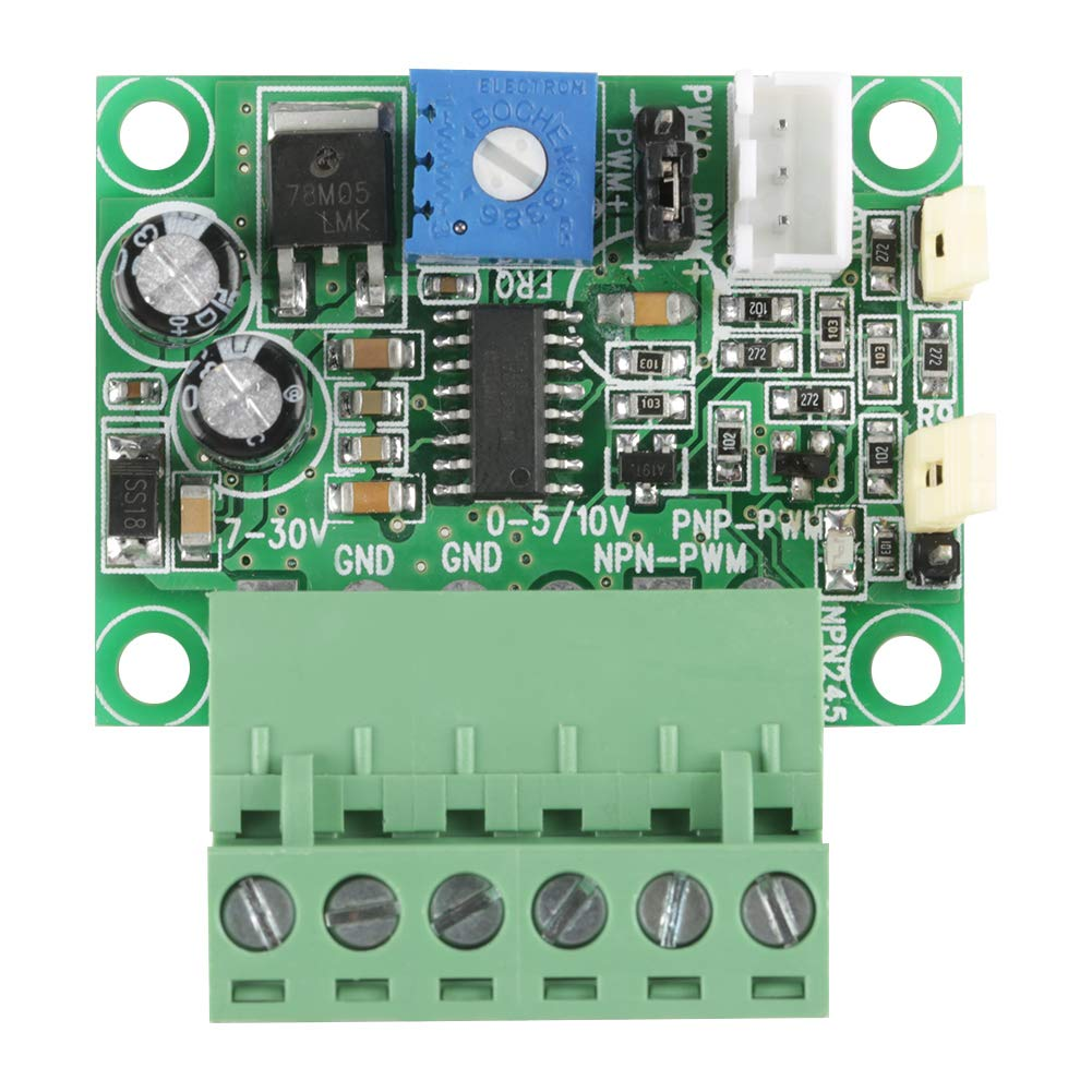 Pasamer Voltage to PWM Signal Module 0-10V Analog Input Voltage to 0-100/% PWM Signal 2KHZ-20KHZ Converter Module Green 0-5V