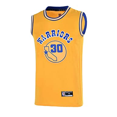 764bf6748be Amazon.com  Youth 8-20 Golden State Warriors  30 Stephen Curry Jersey for  Boys Yellow  Clothing