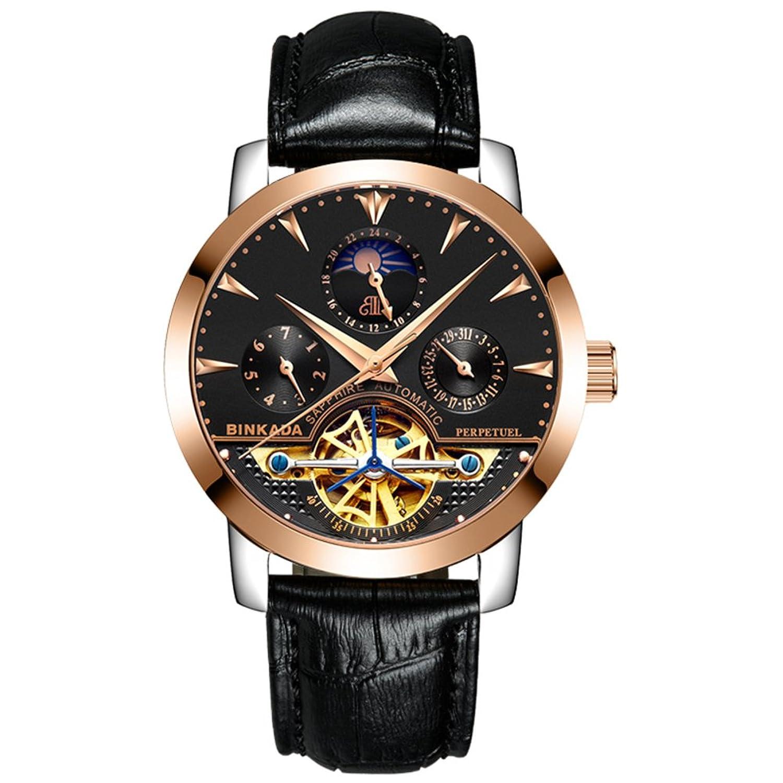 Automatische mechanische Herrenuhren-Stahl trendige Armbanduhr-Herren wasserdichten Uhren-A