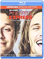 Ride high on the Pineapple Express, the outrageously hysterical blockbuster from Judd Apatow, the director and screenwriter of Knocked Up. A lazy stoner (Seth Rogen) is the sole witness to a murder by an evil drug lord (Gary Cole) and a corru...