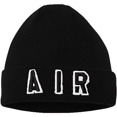 Amazon.com  Jordan Nike Air AIR Cuffed Beanie (Black(9A1709-023 ... 3f0bebe6ace