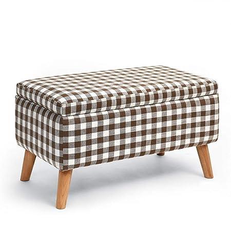 Muebles de jardín para el hogar Rectángulo Otomano Almacenamiento Puf Caja de juguetes Taburete de pie Asiento de banco Asiento individual Cambio de banco de zapatos Otomanos de cocina (Color: A): Amazon.es: