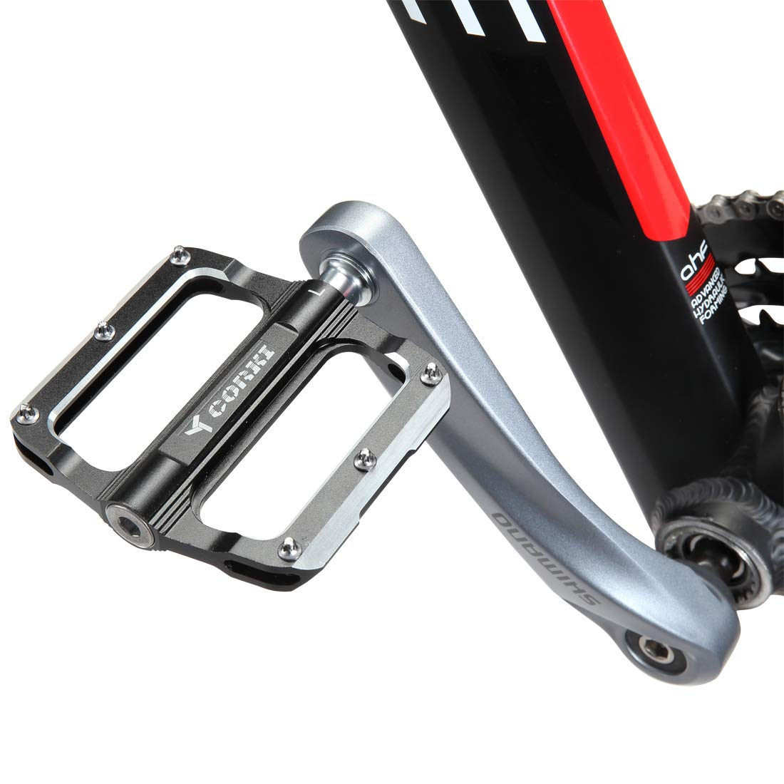 Aluminium Alloy Mountain Bike Road Bicycle MTB Pedal Lightweight Wide Flat