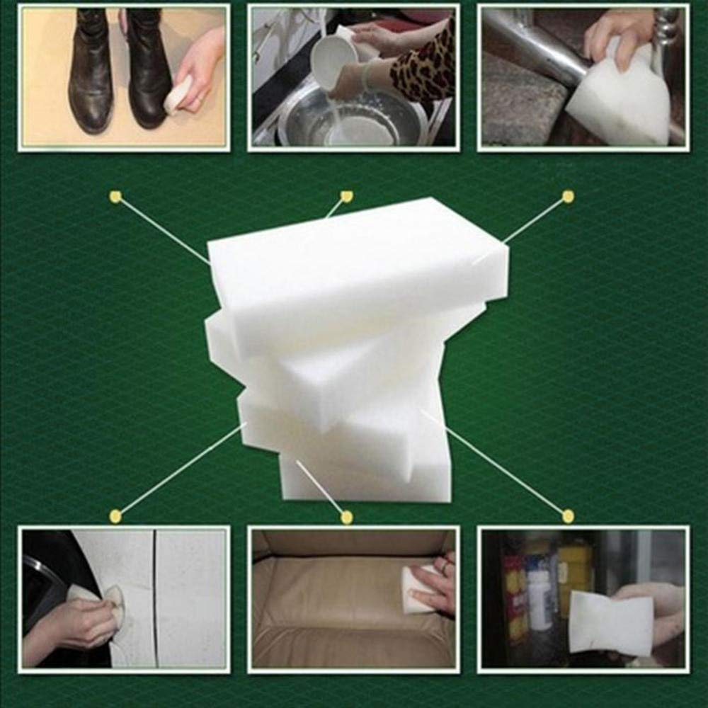 Sponges & Scouring Pads 10pcs White Multi-functional Kitchen Bathroom Cleaning Tools Magic Sponge Eraser Melamine Cleanernano Sponge New Arrival