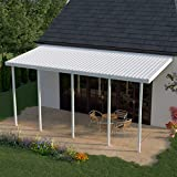 Heritage Patios 34 ft. x 14 ft. White Aluminum Patio Cover (5 Posts / 10 lb. Non-Snow Areas)