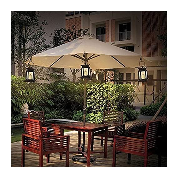 """AMEI Solar Lantern, Solar LED Deck Light, Outdoor Hanging Solar Garden Light, Patio Lanterns, Yard Decorations,Hanging Solar Lantern with Clamp for Patio Umbrella Deck Lighting & Decoration (2 Pack) - Small & Portable - 3.5"""" x 3.5"""" x 4.9"""", with a metal clamp and ring, you can change lighting place to yard garden lawn patio umbrella outdoor anywhere you can hang. Energy-Saving & Auto On-OFF - Powered by solar, you just need take this led lantern under direct sunshine 4-6 hours, the included rechargeable battery will storage plenty of energy to light dusk to dawn with Auto on-off. No added electricity fee or battery cost. High Quality Made, long service life, no UV or IR, environmental friendly.4 to 5 hours of sunlight at day time provides 6 to 9 hours brightness at night. - patio, outdoor-lights, outdoor-decor - 61ZCvGMS4cL. SS570  -"""