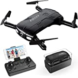 Drone with Camera Live Video RC Pocket Mini Drone Easy to Use Beginners Quadcopter 2.4G 6-Axis Headless Mode One Key Return 3D Flips and Rolls Toys