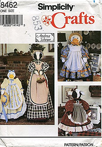 Simplicity Crafts Pattern 8462 Cow & Duck Covers for Vacuum & Sewing Machines by Andrea Schewe