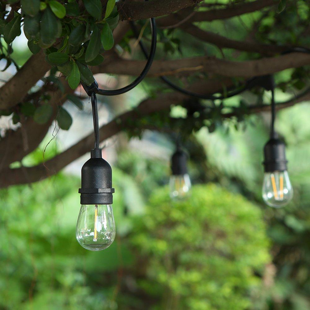 Lichterkette 10m mit 10 Led Glühbirnen, Outdoor Lichterkette Lichterkette Lichterkette Außen Lichterkette IP65 Wasserdicht für Garten, Party, Wehinachten b7f6d8