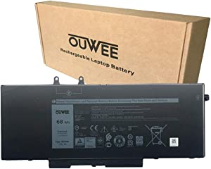 OUWEE 4GVMP Laptop Battery Compatible with Dell Latitude 5400 5410 5500 5510 Precision 3540 3550 Inspiron 7590 7591 7791 2-in-1 Series 1V1XF R8D7N RF7WM 0RF7WM 9JRYT 09JRYT 0X77XY 0C5GV2 7.6V 68Wh