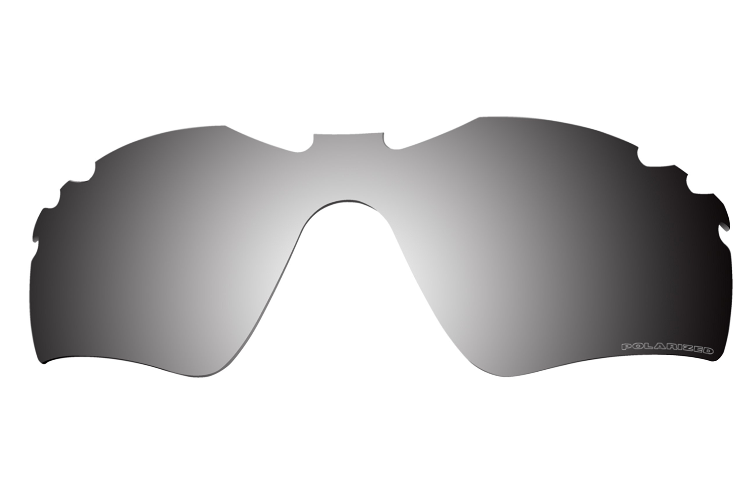 Polarized Lenses Replacement for Oakley Radar Path Vented Sunglasses - 6 Options Available (Black iridium) by BVANQ