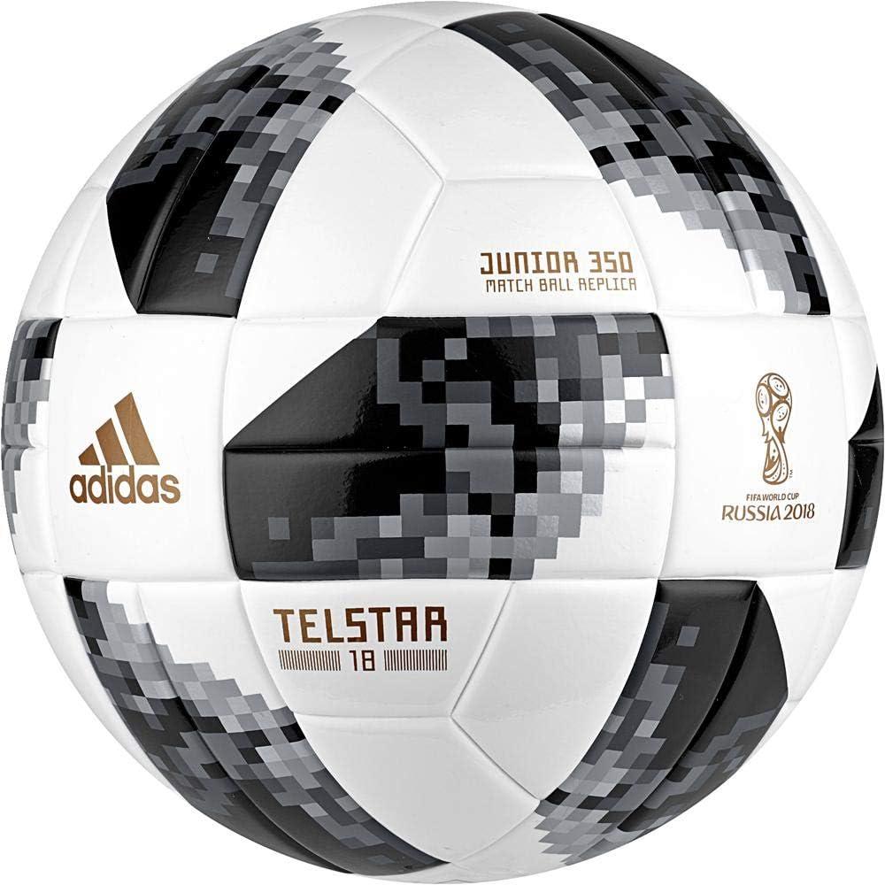 adidas World Cup J350 Balón, Hombre, Blanco/Negro/Plamet, 5 ...