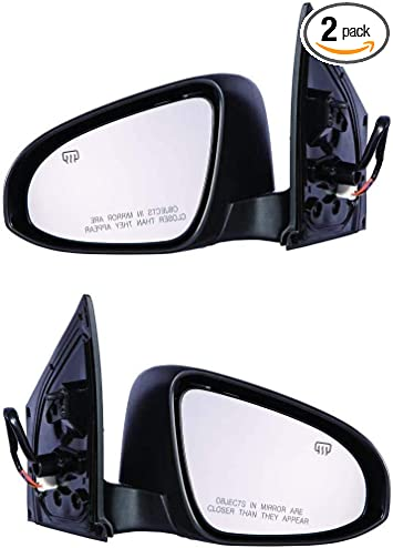 Mirror Driver Power Heated Signal Right Left Set Pair for 13-14 Altima Sedan
