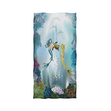 Amazoncom The Underwater Mermaids And Dolphins Extra Large Hand