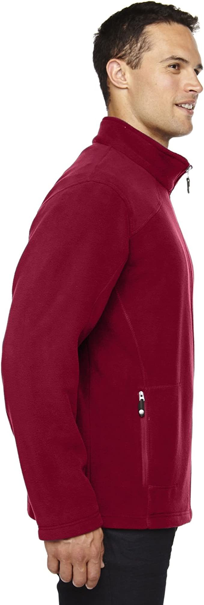 North End Voyage Mens Fleece Jacket3XL CLASSIC RED 88172