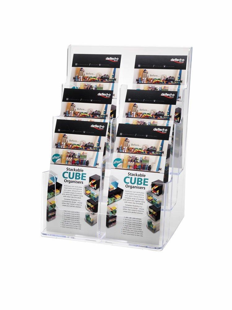 Deflect-o - 6 Soporte para folletos (3 niveles, 6 - compartimentos, vertical, 1/3 de A4), transparente d1da51
