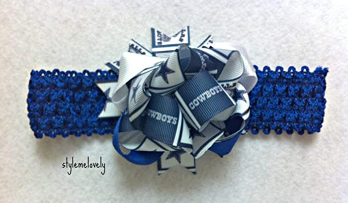 separation shoes d6ab5 d9147 Amazon.com: Dallas Cowboys Baby Girl Boutique Bow Crocheted ...