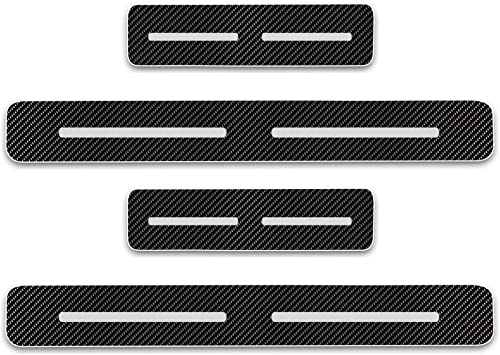 Universal Door Sill Protector Strips 4 door Trim Cover Entry Guards Blue For Car