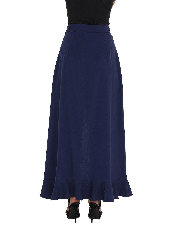 Suelta Falda Larga para Mujer Pantalones Palazzo Asvivid Cintura Alta