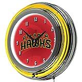 Trademark Gameroom NBA1400-AH2 NBA Chrome Double Rung Neon Clock - Fade - Atlanta Hawks