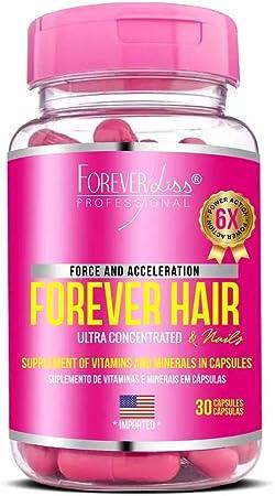 Forever Hair Tratamento 30 Capsulas, FOREVER LISS, Rosa