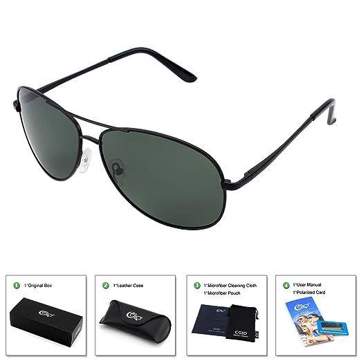 8a187c6e1f8 CGID GA03 Premium Al-Mg Alloy Full Mirrored Pilot Polarized Sunglasses  UV400