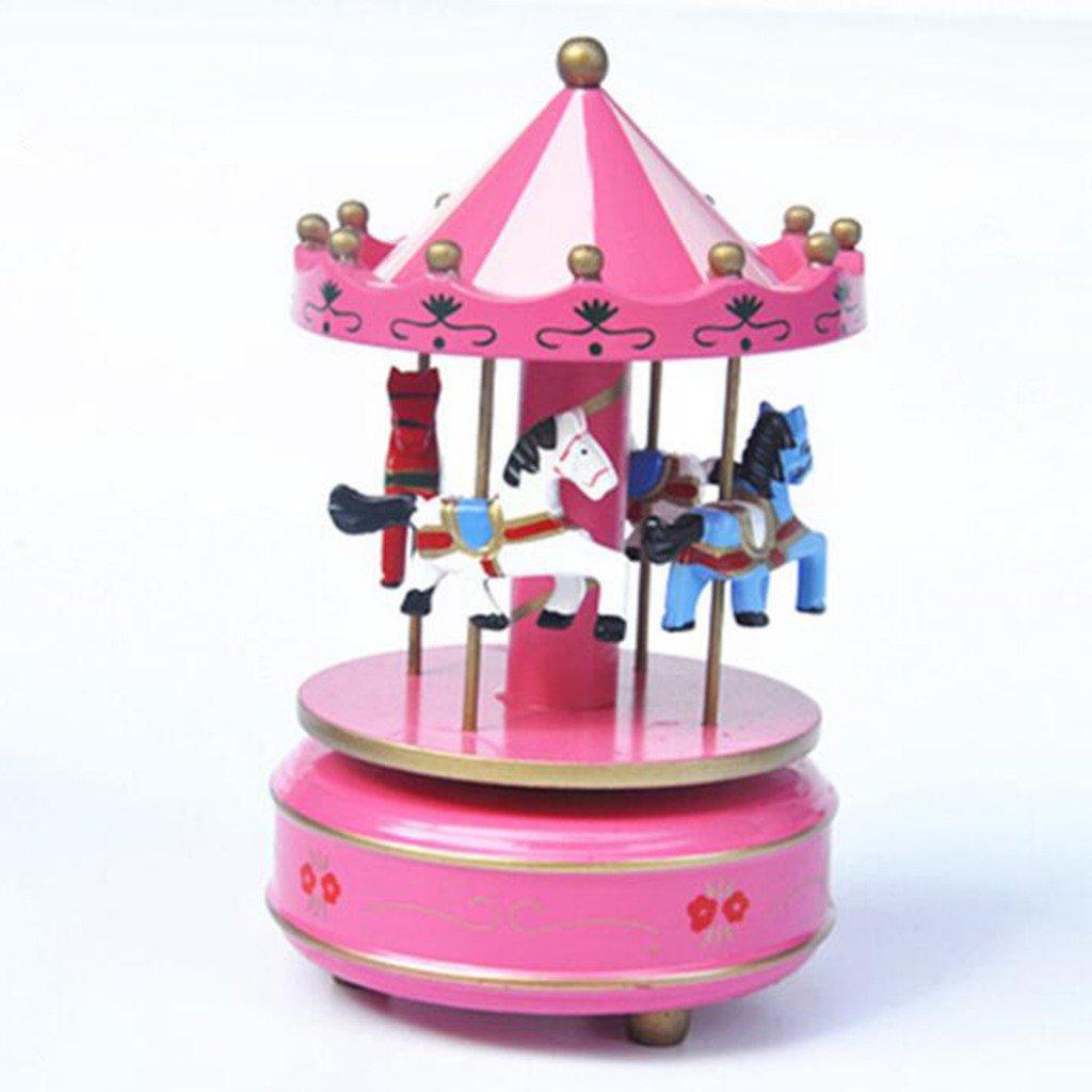 大量入荷 xuanmax回転木製カルーセル音楽ボックス4-horse merry-go-round Toy ローズ with Castle in merry-go-round MUMA1-ROSE-XM-DE the Sky Melody forクリスマス誕生日バレンタインの日 ピンク MUMA1-ROSE-XM-DE B06Y3ZR241 ローズ, 立花町:1e51c689 --- arcego.dominiotemporario.com