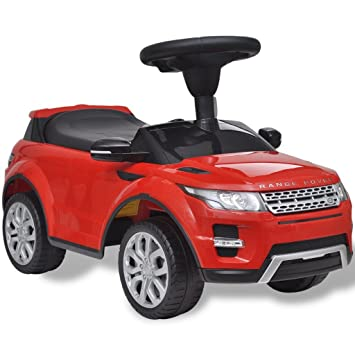 vidaXL Coche de juguete rojo con música, modelo Land Rover 348 juego niño infantil