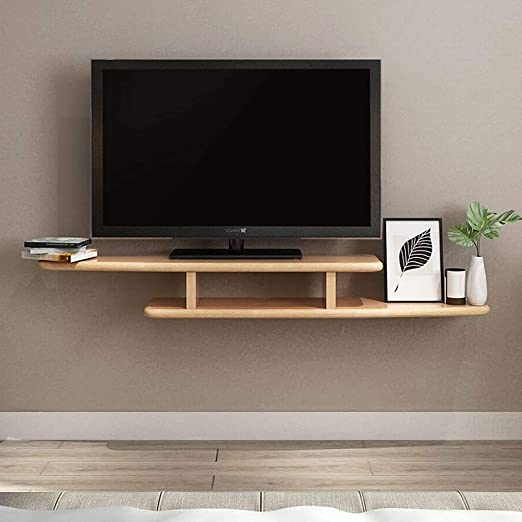 LTJTVFXQ-shelf Madera Maciza Colgante de Pared TV Gabinete Estante ...