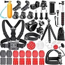 Neewer 54-In-1 Action Camera Accessory Kit for GoPro Hero 6 5 4 3+ 3 2 1  Hero Session/5, SJ4000 5000 6000 DBPOWER AKASO VicTsing APEMAN WiMiUS Rollei QUMOX Lightdow Campark and Sony Sports DV and More