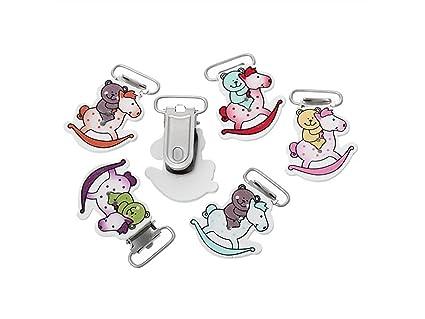 DOOUYTERT 5pcs oso forma bebé dentición chupete clip chupete ...