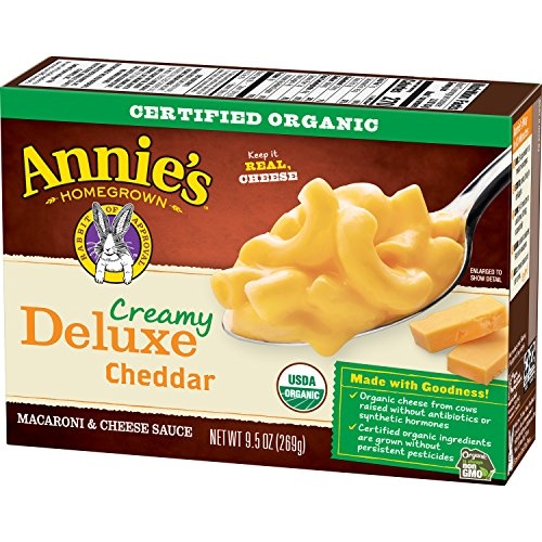Deluxe Creamy (Annie's Organic Macaroni and Cheese, Elbows & Creamy Mild Cheddar Sauce Mac and Cheese, 9.5 oz Box (Pack of 6))