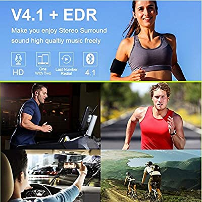 True Wireless Stereo Headphones,YCCTEAM Mini Invisible Wireless Bluetooth V4.2 Surround Sound Earbuds Earphones Noise Cancelling In Ear Headset With Microphone For Apple iPhone Samsung Android (Black)