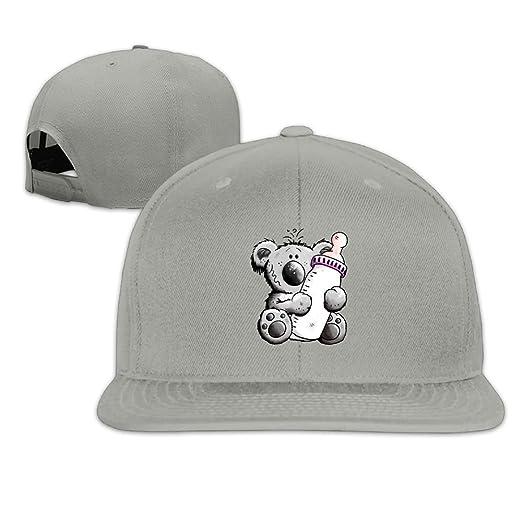 a5cc66a18dc2d Jusxout Baby Koala Snapback Unisex Adjustable Flat Bill Visor Baseball Cap