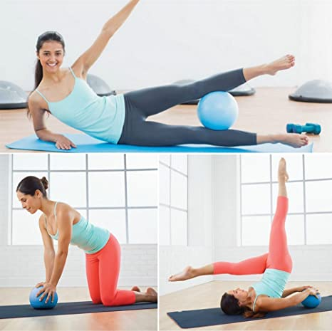 Mini Yoga Pilates bola 10 Inch Para estabilidad Ejercicio Entrenamiento  Gimnasio anti Burst y antideslizante bolas deee7fc997d2