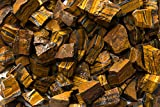 Fantasia Materials: 18 lbs Gold Tiger Eye ''AAA'' Grade Rough Stones from South Africa - Raw Bulk Natural Crystals for Tumbling, Cabbing, Cutting, Lapidary, Reiki, Wicca and Energy Crystal Healing