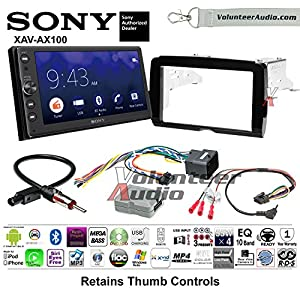 2014-2017 Sony XAV-AX100 Harley Davidson Aftermarket Radio Installation Kit With Bluetooth Android Auto Apple Carplay