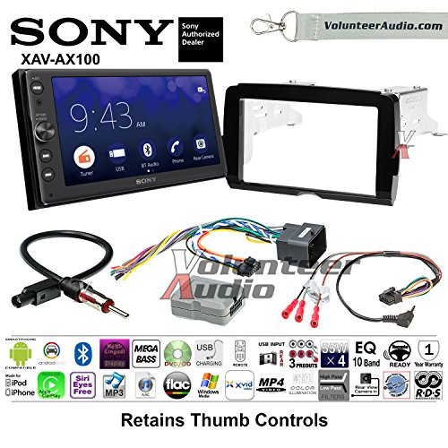 2014-2017 Sony XAV-AX100 Harley Davidson Aftermarket Radio Installation Kit With Bluetooth Android