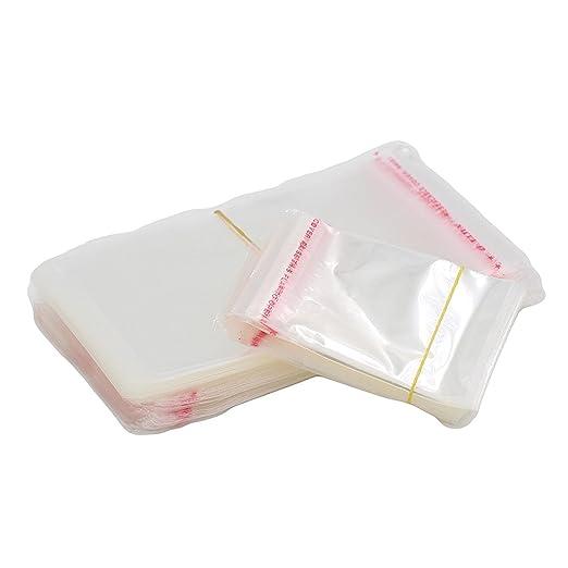 Primi 100pcs claro bolsas cierre autoadhesivo adhesivo ...