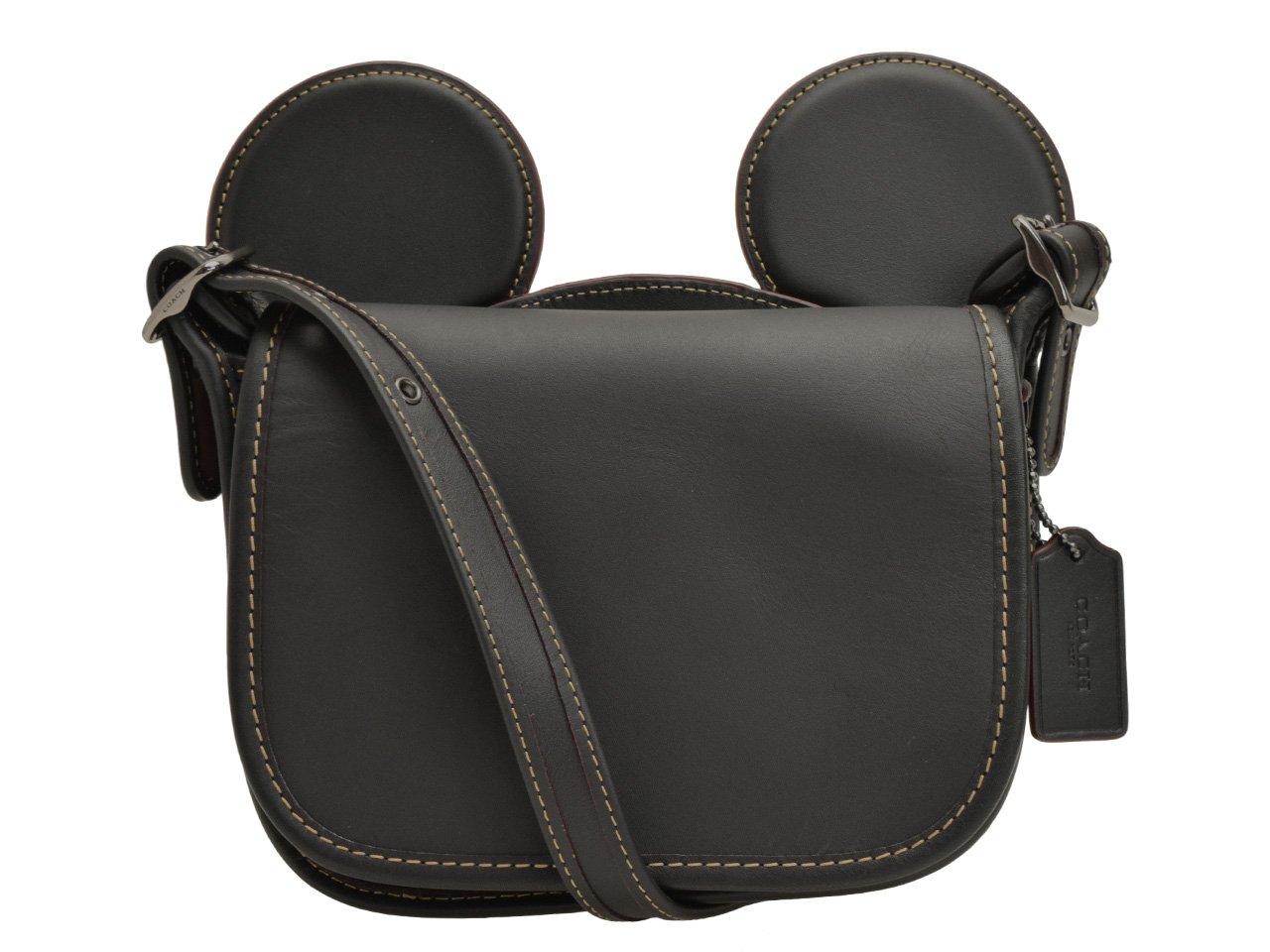 (コーチ) COACH バッグ ショルダーバッグ 斜めがけ ディズニー ミッキー MICKEY レザー F59369 アウトレット [並行輸入品] B071SL6YSS ブラック ブラック
