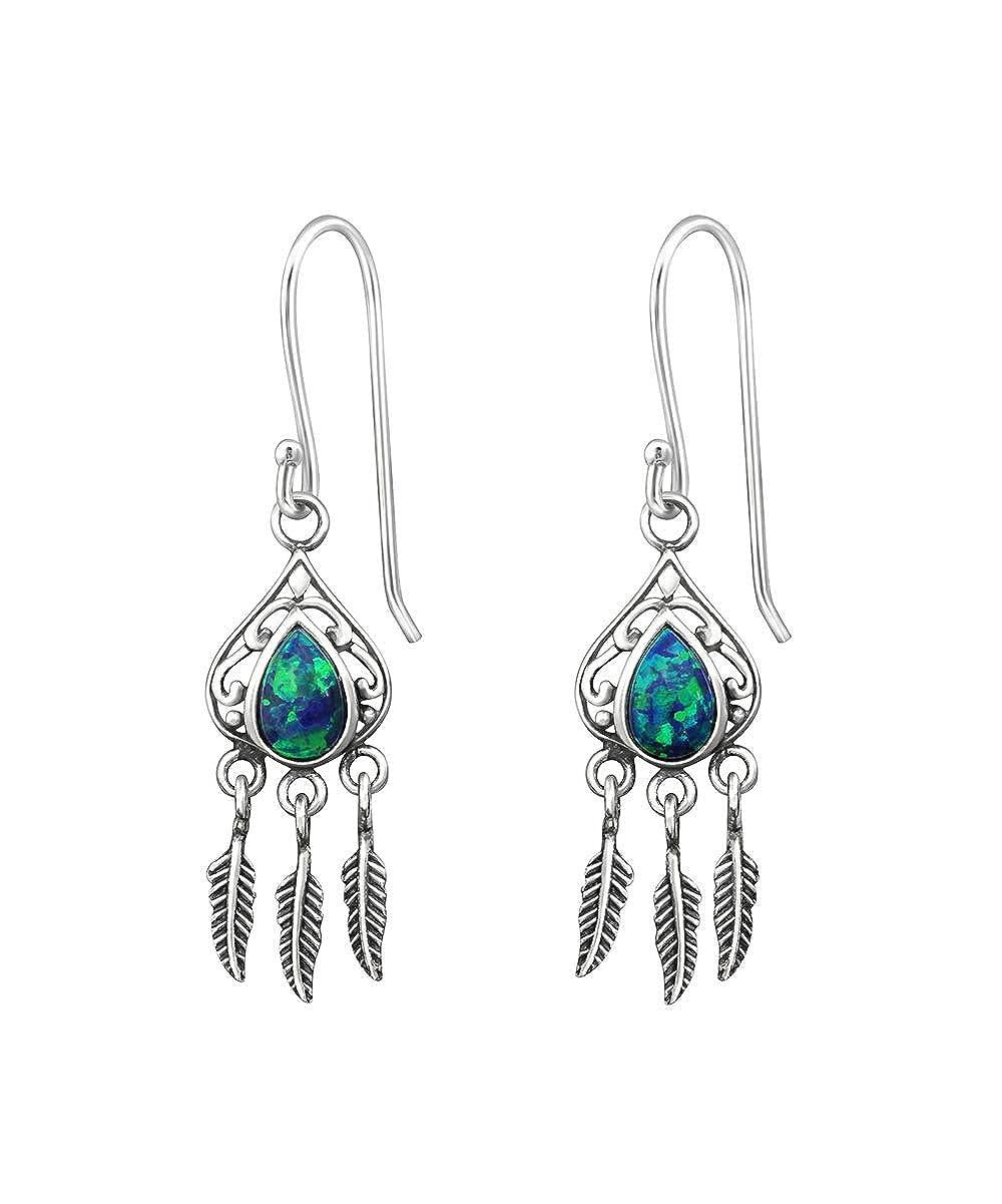 Sterling Silver Arapahoe with Mystic Fire Opal Wholesale Gemstone Fashion Jewelry Earrings