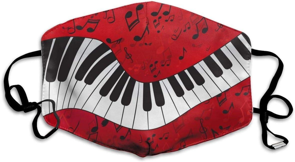 Gesichtsschutz Abdeckung Klavier Musik Note M/änner und Frauen Waschbar Wiederverwendbar
