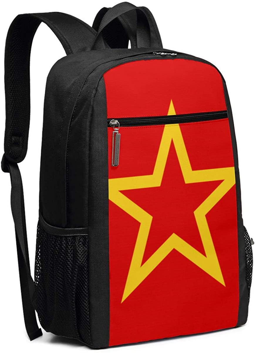 XTYND556 Moroccan Flag College Commuter Backpack Large Capacity Laptop Bag 17 Inch Travel Bag