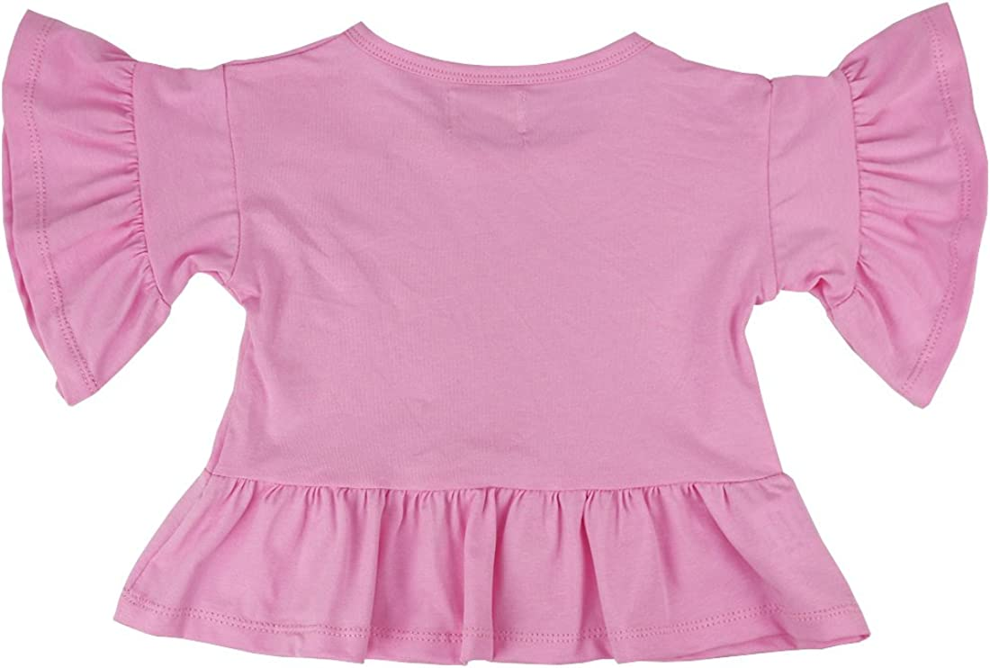Wennikids Little Girls Double Ruffle Solid Tank Top