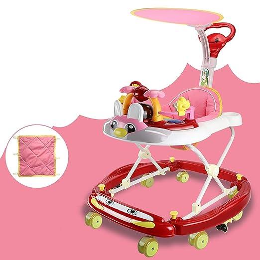 LFY Andador para bebés con empuñaduras y sombrillas para ...